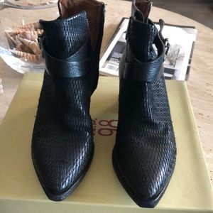 A.S. 98 black booties with original box